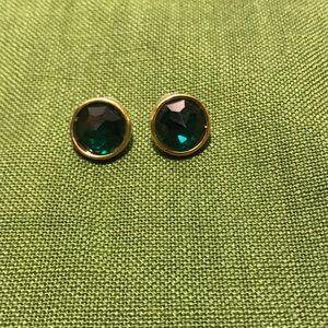 Vintage Swarovski green crystal earrings